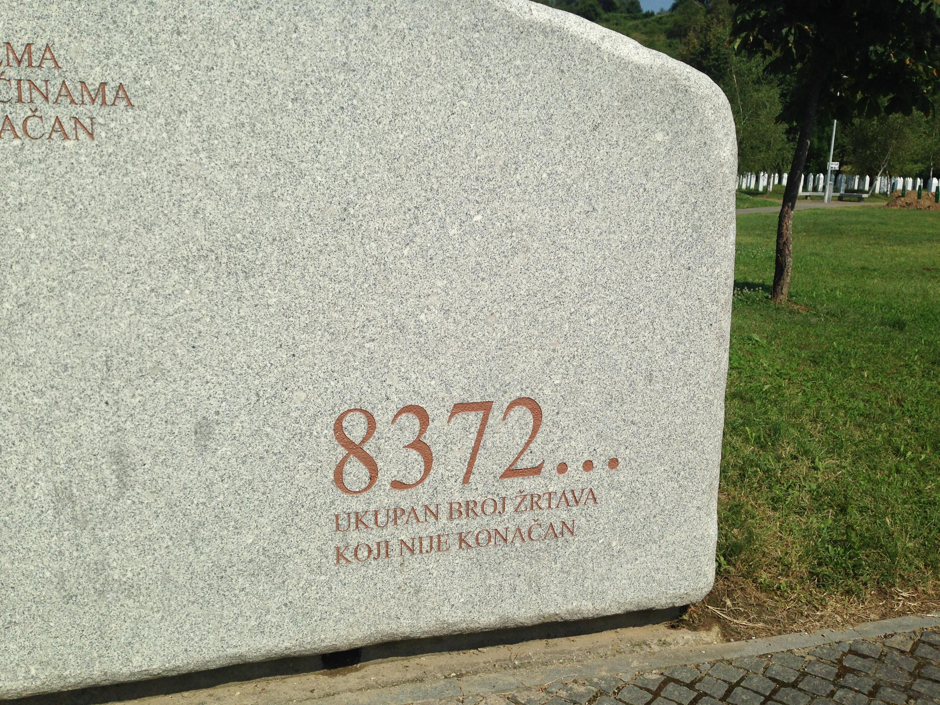 Inside the old Dutch base Estimated number of victims of Srebrenica massacre