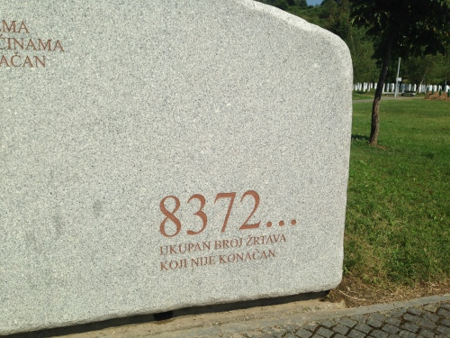 Estimated number of victims of Srebrenica massacre