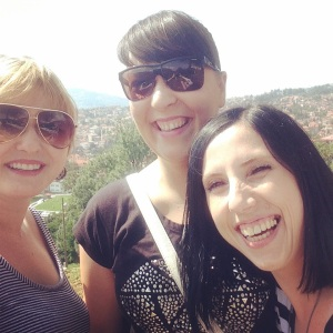 Zana, Amra and I at the lookout point
