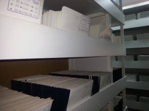 Case file evidence from the International Commision on Missing Persons archives (ICMP) in Tuzla, BiH.