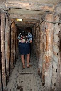 "In the ""tunnel of life"", the tunnel that ran underneath the airport into Sarajevo, providing the city with vital supplies."